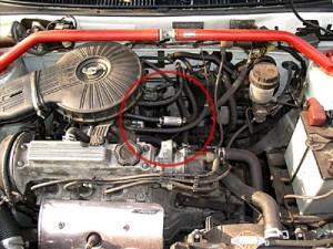 Silnik Suzuki Swift z zamontowanym magnetyzerm Maksor Dynamic feul.