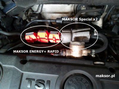 Tuning Skoda Ovravia 1,4 TSI 122 KM - Maksor Special i Energy+Rapid