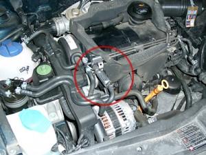 Magnetyzer maksor Dynamic fuel w silniku VW Passat.