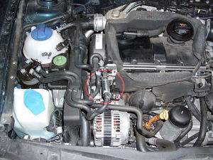 VW Golf z magnetyzerem MAKSOR Dynamic fuel